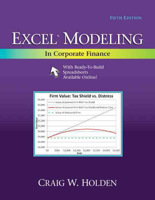 Excel Modeling in Corporate Finance By Holden, Craig W.
